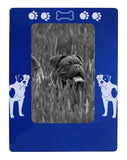"Blue American Bulldog 4"" x 6"" Magnetic Photo Frame (Vertical/Portrait)"