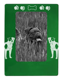 "Green American Bulldog 4"" x 6"" Magnetic Photo Frame (Vertical/Portrait)"