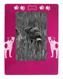 "Pink American Bulldog 4"" x 6"" Magnetic Photo Frame (Vertical/Portrait)"
