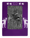 "Purple American Bulldog 4"" x 6"" Magnetic Photo Frame (Vertical/Portrait)"