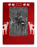 "Red American Bulldog 4"" x 6"" Magnetic Photo Frame (Vertical/Portrait)"