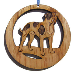 4 inch American Bulldog Laser-etched Ornament