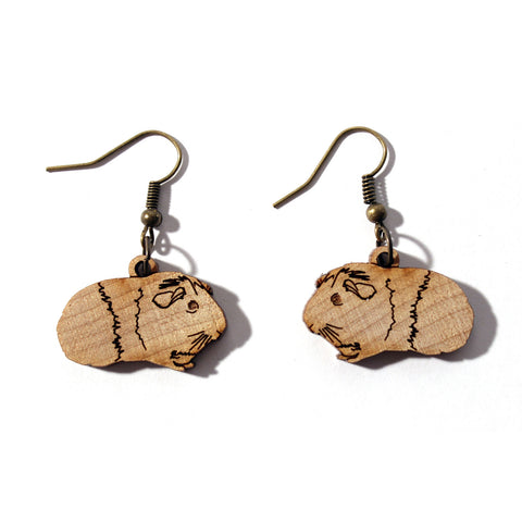 Laser-cut Guinea Pig Earrings