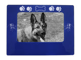 "Blue Australian Shepherd 4"" x 6"" Magnetic Photo Frame (Horizontal/Landscape)"