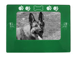 "Green Australian Shepherd 4"" x 6"" Magnetic Photo Frame (Horizontal/Landscape)"