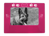"Pink Australian Shepherd 4"" x 6"" Magnetic Photo Frame (Horizontal/Landscape)"
