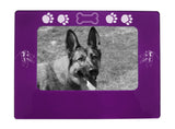 "Purple Australian Shepherd 4"" x 6"" Magnetic Photo Frame (Horizontal/Landscape)"