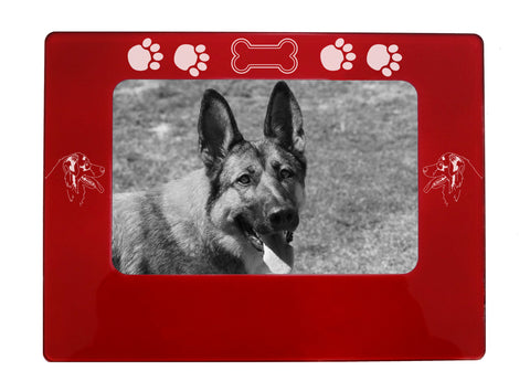"Red Australian Shepherd 4"" x 6"" Magnetic Photo Frame (Horizontal/Landscape)"