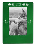 "Green Australian Shepherd 4"" x 6"" Magnetic Photo Frame (Vertical/Portrait)"
