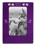 "Purple Australian Shepherd 4"" x 6"" Magnetic Photo Frame (Vertical/Portrait)"