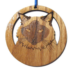 4 inch Balinese Cat Laser-etched Ornament