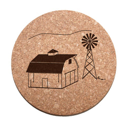 Barn & Windmill Cork Trivet