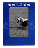 "Blue Basset Hound 4"" x 6"" Magnetic Photo Frame (Vertical/Portrait)"
