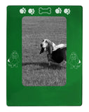 "Green Basset Hound 4"" x 6"" Magnetic Photo Frame (Vertical/Portrait)"