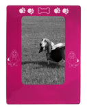 "Pink Basset Hound 4"" x 6"" Magnetic Photo Frame (Vertical/Portrait)"