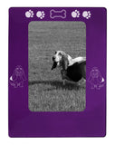 "Purple Basset Hound 4"" x 6"" Magnetic Photo Frame (Vertical/Portrait)"