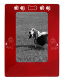 "Red Basset Hound 4"" x 6"" Magnetic Photo Frame (Vertical/Portrait)"