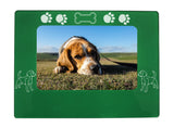 "Green Beagle 4"" x 6"" Magnetic Photo Frame (Horizontal/Landscape)"
