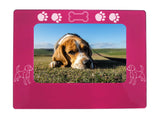 "Pink Beagle 4"" x 6"" Magnetic Photo Frame (Horizontal/Landscape)"