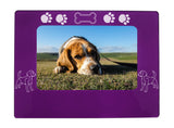 "Purple Beagle 4"" x 6"" Magnetic Photo Frame (Horizontal/Landscape)"