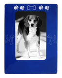 "Blue Beagle 4"" x 6"" Magnetic Photo Frame (Vertical/Portrait)"