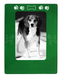 "Green Beagle 4"" x 6"" Magnetic Photo Frame (Vertical/Portrait)"