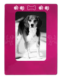 "Pink Beagle 4"" x 6"" Magnetic Photo Frame (Vertical/Portrait)"