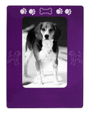 "Purple Beagle 4"" x 6"" Magnetic Photo Frame (Vertical/Portrait)"