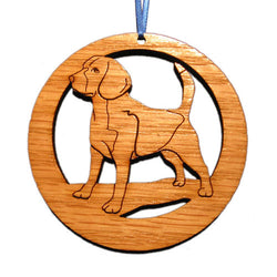 4 inch Beagle Laser-etched Ornament
