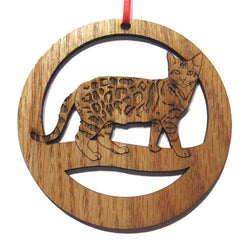 4 inch Bengal Cat Laser-etched Ornament