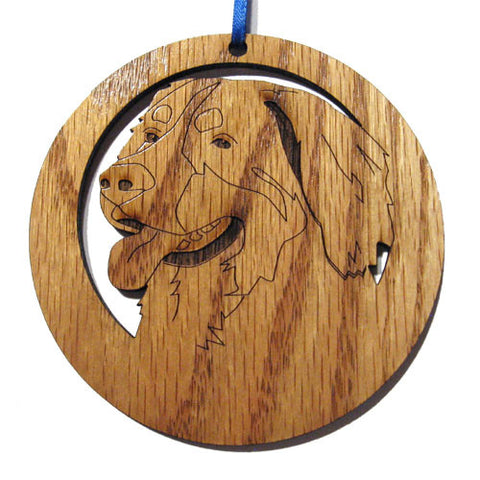 4 inch Bernese Mtn. Dog Laser-etched Ornament