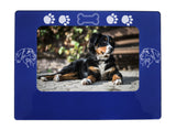 "Blue Bernese Mtn. Dog 4"" x 6"" Magnetic Photo Frame (Horizontal/Landscape)"
