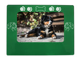 "Green Bernese Mtn. Dog 4"" x 6"" Magnetic Photo Frame (Horizontal/Landscape)"