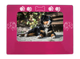 "Pink Bernese Mtn. Dog 4"" x 6"" Magnetic Photo Frame (Horizontal/Landscape)"