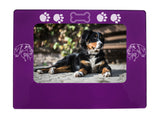 "Purple Bernese Mtn. Dog 4"" x 6"" Magnetic Photo Frame (Horizontal/Landscape)"