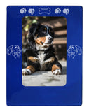 "Blue Bernese Mtn. Dog 4"" x 6"" Magnetic Photo Frame (Vertical/Portrait)"