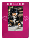 "Pink Bernese Mtn. Dog 4"" x 6"" Magnetic Photo Frame (Vertical/Portrait)"
