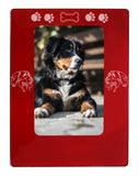 "Red Bernese Mtn. Dog 4"" x 6"" Magnetic Photo Frame (Vertical/Portrait)"
