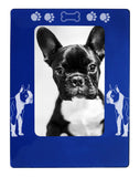 "Blue Boston Terrier 4"" x 6"" Magnetic Photo Frame (Vertical/Portrait)"
