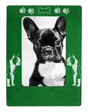 "Green Boston Terrier 4"" x 6"" Magnetic Photo Frame (Vertical/Portrait)"