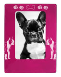 "Pink Boston Terrier 4"" x 6"" Magnetic Photo Frame (Vertical/Portrait)"