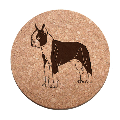 Boston Terrier Cork Trivet