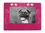"Boxer Dog 4"" x 6"" Magnetic Photo Frame (Horizontal/Landscape)"