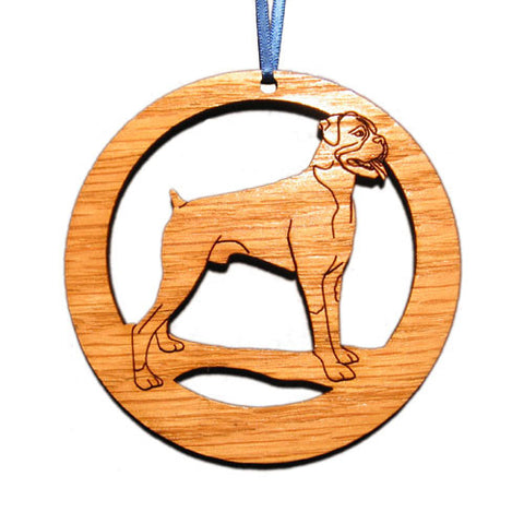 4 inch Boxer Dog Laser-etched Ornament