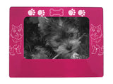 "Pink Cairn Terrier 4"" x 6"" Magnetic Photo Frame (Horizontal/Landscape)"
