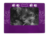 "Purple Cairn Terrier 4"" x 6"" Magnetic Photo Frame (Horizontal/Landscape)"