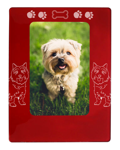 "Red Cairn Terrier 4"" x 6"" Magnetic Photo Frame (Vertical/Portrait)"