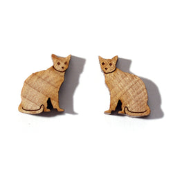 Laser-cut Cat Earrings