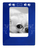 "Blue Chihuahua 4"" x 6"" Magnetic Photo Frame (Vertical/Portrait)"