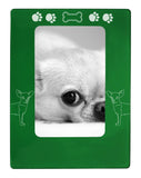 "Green Chihuahua 4"" x 6"" Magnetic Photo Frame (Vertical/Portrait)"